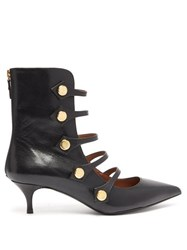 Tabitha Simmons Levi Cut Out Leather Ankle Boots Black