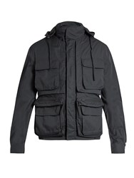 Christophe Lemaire Convertible Twill Parka Dark Grey