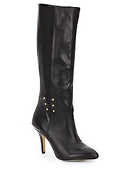 Saks Fifth Avenue Haskell Knee High Boots Black