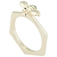 Ted Baker Beelbee Bumble Bee Ring Pale Gold