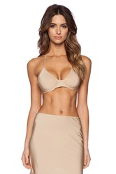 Only Hearts Club Second Skins Racerback Bra Tan