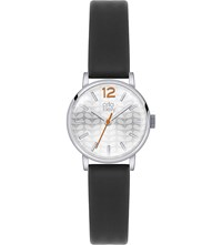 Orla Kiely Ok2041 Frankie Leather And Stainless Steel Watch Silver