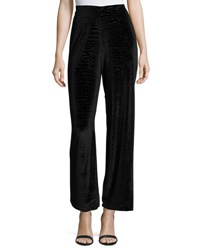 Romeo And Juliet Couture Velvet Snakeskin Print High Waist Pants Black