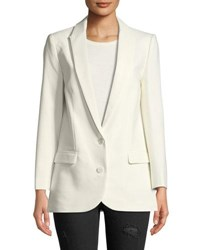 Zadig And Voltaire Viva Two Button Embellished Blazer White