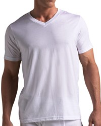 Neiman Marcus V Neck T Shirt Set Of Three White