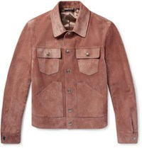 Tom Ford Slim Fit Suede Jacket Pink