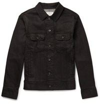 Rag And Bone Standard Issue Washed Denim Jacket Black