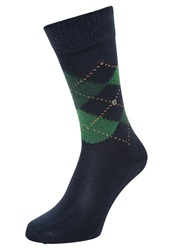 Burlington Preston Socks Navy Dark Blue