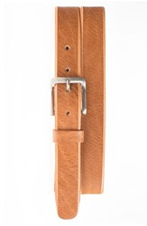 Men's Will Leather Goods 'Skiver' Skinny Leather Belt Tan