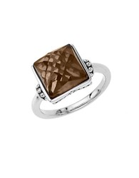 Lord And Taylor Sterling Silver Smokey Quartz Ring Smokey Quartz Silver