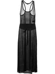 Ann Demeulemeester Sheer Long Party Dress Black