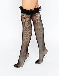 Leg Avenue Fishnet Thigh Highs Black