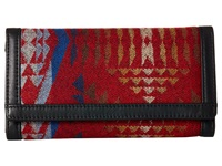 Pendleton Leather Checkbook Wallet Diamond River Red Wallet Handbags