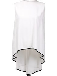Adam By Adam Lippes Cascading Tail Sleeveless Blouse White