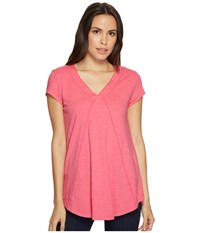 Mod O Doc Slub Jersey Seamed V Neck Tee With Shirttail Hem Pink Parfait T Shirt Orange