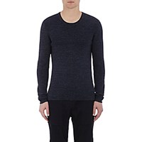 Vince. Men's Thermal Stitched T Shirt Navy