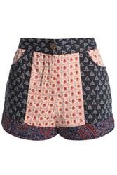 Antik Batik Paty Printed Woven Cotton Shorts Navy