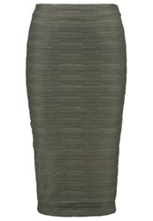 Storm And Marie Mollie Pencil Skirt Ivy Green Khaki