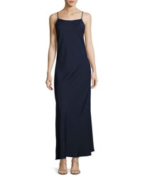 Alice Olivia Bredes Scoop Back Maxi Slip Dress Blue