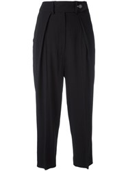 Sportmax High Waisted Trousers Black