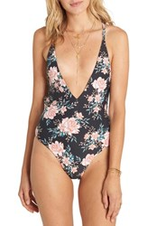 Billabong Women's Let It Bloom One Piece Swimsuit Black