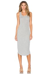 Dolan Crewneck Slip Dress Gray