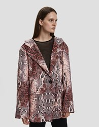House Of Sunny Relaxed Python Blazer