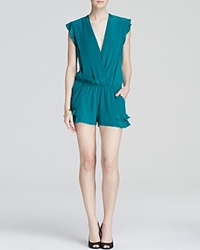 Twelfth St. By Cynthia Vincent Twelfth Street By Cynthia Vincent Romper Ruffle Flutter Emerald