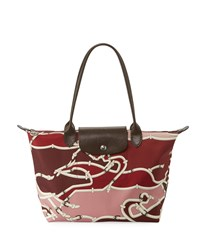 Longchamp Le Pliage Galop Medium Shoulder Tote Bag Burgundy