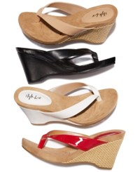 Styleandco. Style Co Chicklet Wedge Thong Sandals Nude