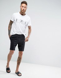 Boss By Hugo Regular Fit Lounge Shorts With Contrast Waistband Black