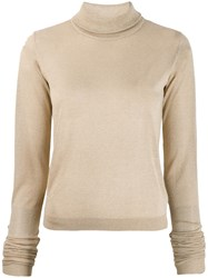 Patrizia Pepe Roll Neck Jumper Neutrals