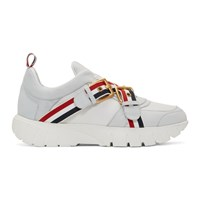 Thom Browne White Strap Raised Running Sneakers