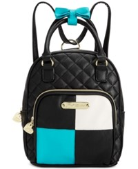 Betsey Johnson Mini Convertible Backpack Teal
