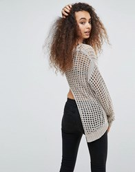 Blank Nyc Loose Knit Fishtail Jumper Askhole Cream