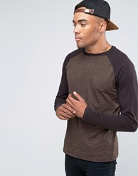 New Look T Shirt With Long Sleeves In Brown Rust