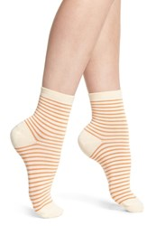 Richer Poorer Skimmer Stripe Socks Ivory