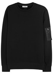Tim Coppens Ma 1 Black Shell And Cotton Sweatshirt