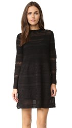 M Missoni Ruffle Neck Knit Dress Black