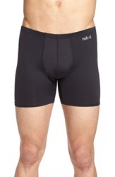 Men's Naked 'Active' Microfiber Boxer Briefs Black