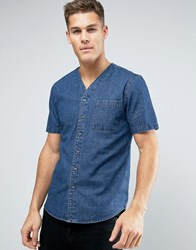 Another Influence Baseball Collar Shirt Blue