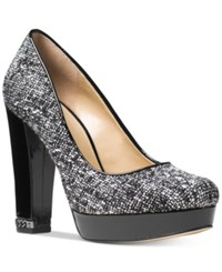 Michael Kors Sabrina Platform Pumps Women's Shoes Black White