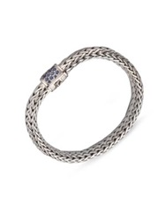 John Hardy Classic Chain Sapphire And Sterling Silver Medium Bracelet