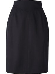 Chanel Vintage Pencil Skirt Blue
