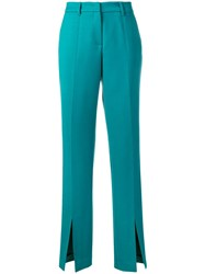 Gabriela Hearst Front Slit Trousers Blue