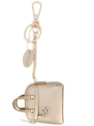Furla Purse Keyring Metallic