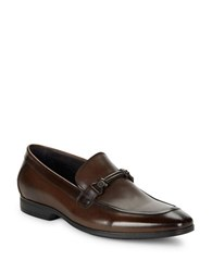 Kenneth Cole Sparetime Leather Loafers Cognac