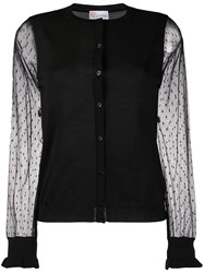 Red Valentino Tulle Sleeves Cardigan 60