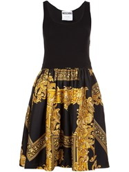 Moschino Baroque Frame Dress Black