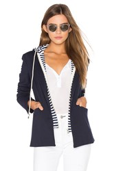 Central Park West Savannah Hooded Blazer Navy